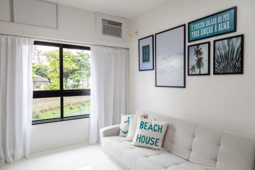 A seating area at Apartamento Ondina