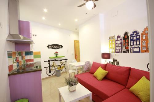 Zona de estar de Apartamentos El Templo Suites