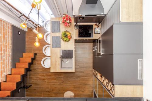 A kitchen or kitchenette at Studio apartment Atelier
