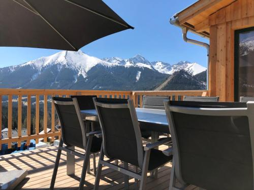 A balcony or terrace at Chalet Triple