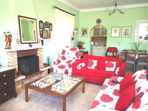 A seating area at Katerina's Garden House