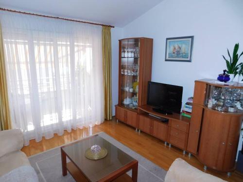 TV a/nebo společenská místnost v ubytování Apartment Anita with amazing sea view