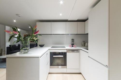 Küche/Küchenzeile in der Unterkunft One Bedroom luxury Apartment