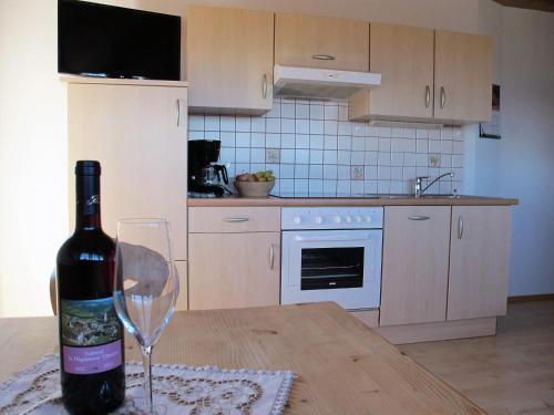 Küche/Küchenzeile in der Unterkunft Rosenheim