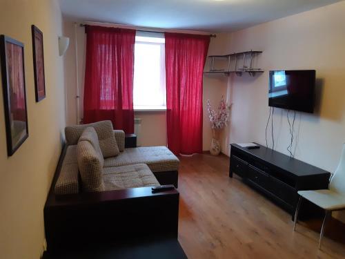 Гостиная зона в Двухкомнатная квартира на Садовой 12