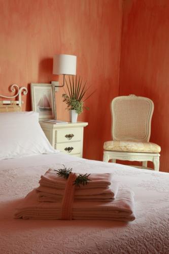 Uma cama ou camas num quarto em Albergo Ristorante Egadi