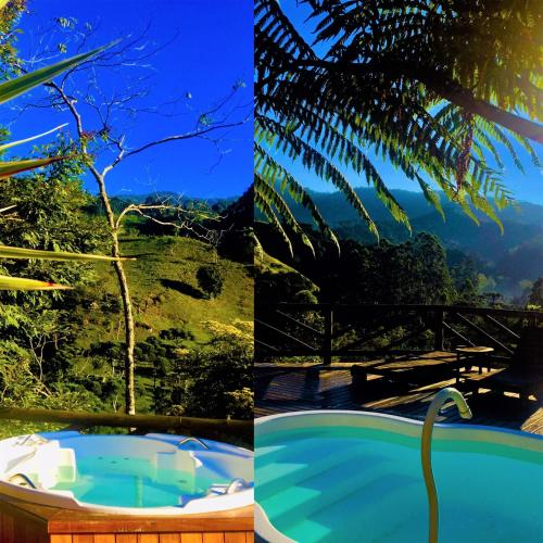 The swimming pool at or near Pousada Magia da Montanha