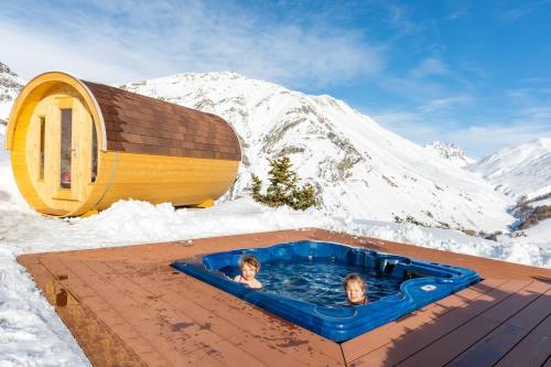 Pianeta Oro Apartments durante l'inverno