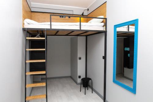Двухъярусная кровать или двухъярусные кровати в номере Shtil