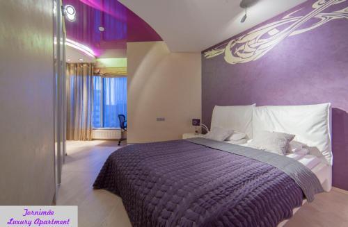Vuode tai vuoteita majoituspaikassa Tornimäe Luxury Apartment