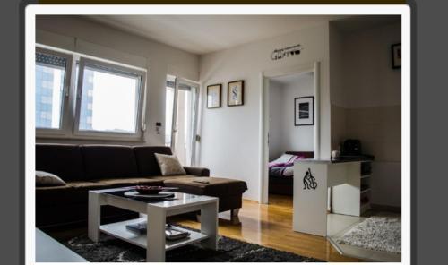 A seating area at Apartman Matea