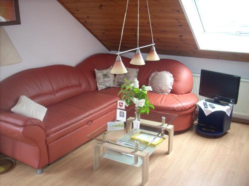 A seating area at Ferienwohnung Lahntal/Taunus