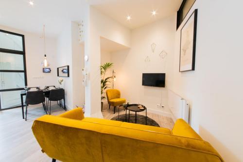 A seating area at Studio Lemonade