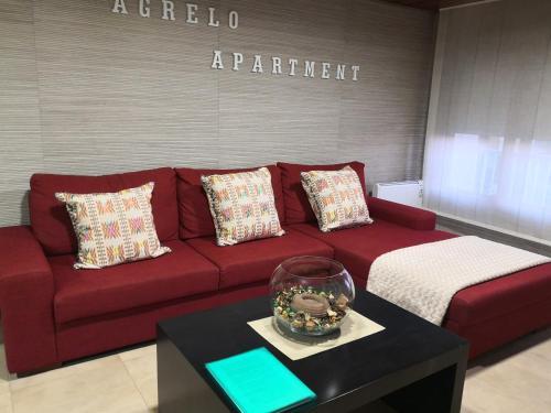 Khu vực ghế ngồi tại Apartamento AGRELO