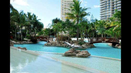 The swimming pool at or near Ocean views in the heart of Surfers Paradise