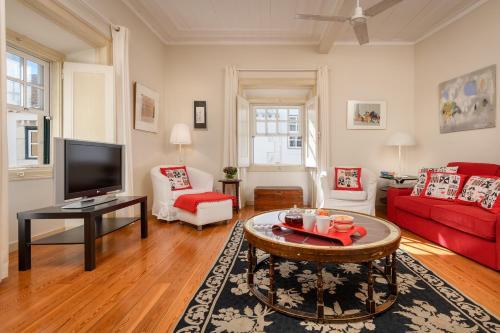 Zona de estar de Chanceler Apartments