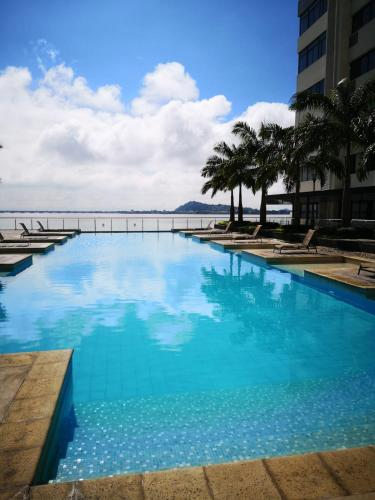 The swimming pool at or near LUXURY APARTMENT PUERTO SANTA ANA GUAYAQUIL