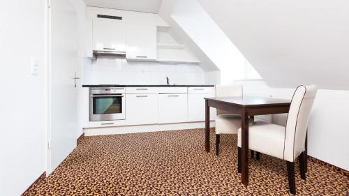 A kitchen or kitchenette at Swiss Star Center