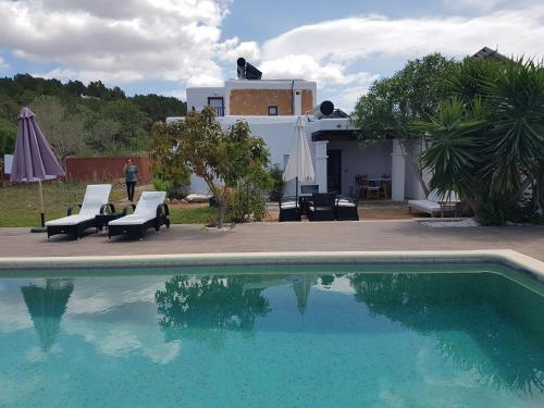 The swimming pool at or near Finca Can Pepis