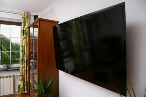 Telewizja i/lub zestaw kina domowego w obiekcie Apartament w centrum