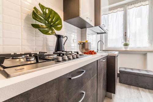 A kitchen or kitchenette at Homeathotel Citylife Colonna