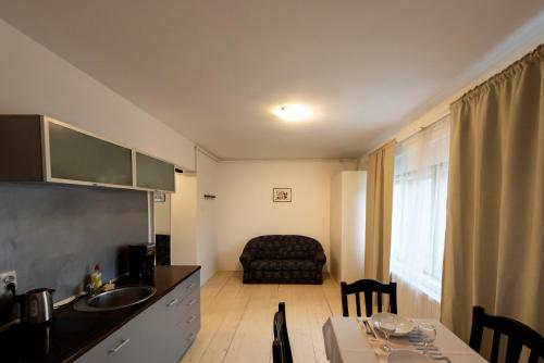 A kitchen or kitchenette at Antic Apartments