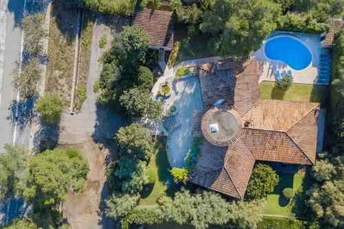 A bird's-eye view of Villa Falco