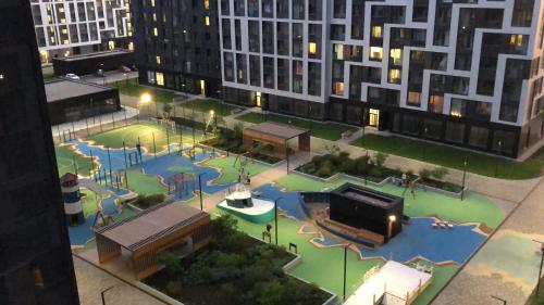 A view of the pool at Polo Apartments near Spartak Stadium and Crocus Expo or nearby