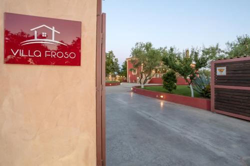 The logo or sign for the villa
