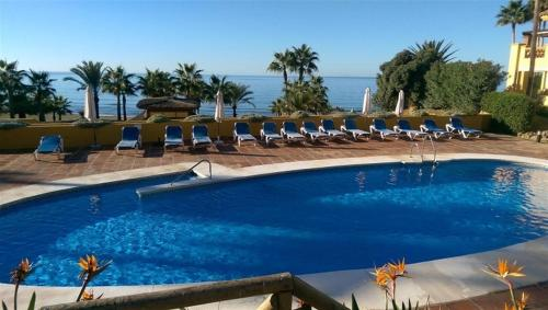 The swimming pool at or near 18166 - SUPERB FRONT LINE LOCATION - HEATED POOL