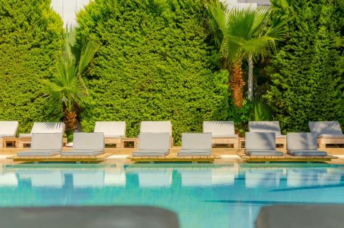 The swimming pool at or close to Drossia Palms Hotel and Nisos Beach Suites