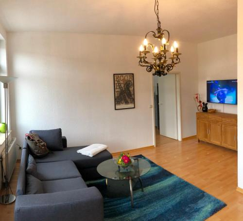 Ein Sitzbereich in der Unterkunft Kaßberg-Apartment am Puls der Stadt