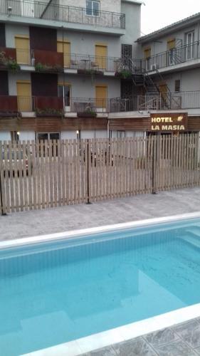 The swimming pool at or near La Masia