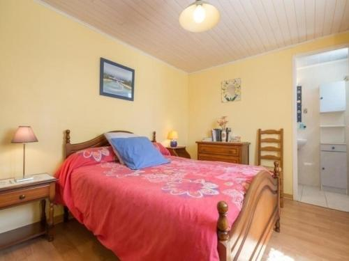 A bed or beds in a room at Rental Gite Crossac