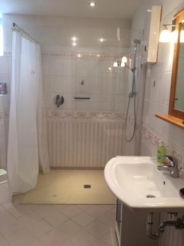 Et badeværelse på das blaue Haus