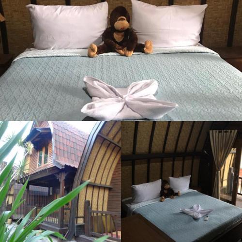 Tempat tidur dalam kamar di Gili Davidoff Bungalow