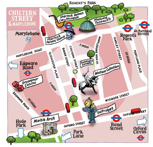 A bird's-eye view of Chiltern Street Serviced Apartments