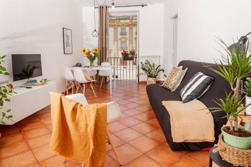 Uma área de estar em I Balconi di San Domenico