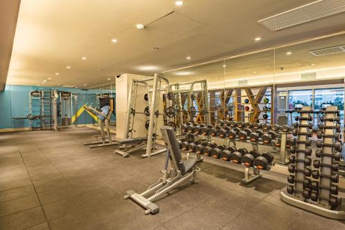 The fitness center and/or fitness facilities at Citadines Bay City Manila
