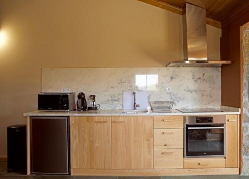 A kitchen or kitchenette at Quinta de S. Cipriano