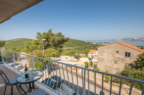 Balkón nebo terasa v ubytování Apartments Lidija