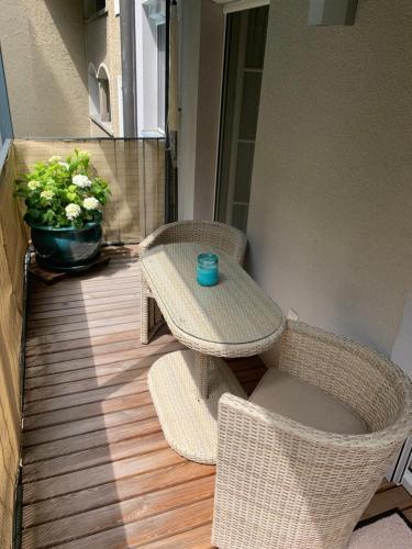 Ein Sitzbereich in der Unterkunft Apartment Kaigasse 32