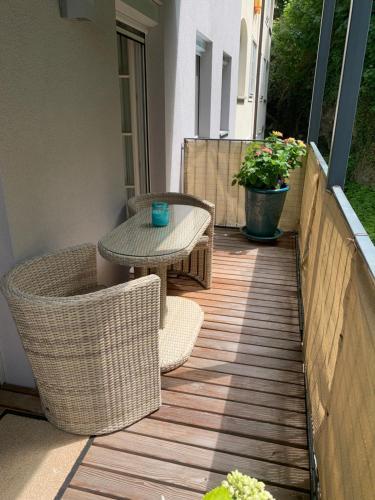 Ein Balkon oder eine Terrasse in der Unterkunft Apartment Kaigasse 32