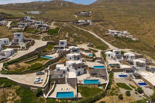 מבט מלמעלה על Mykonos Panormos Villas
