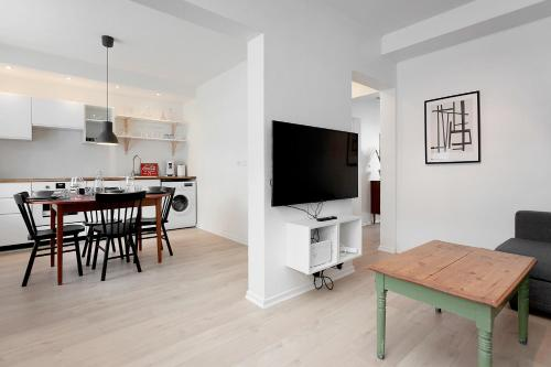 A television and/or entertainment center at Mjolnir Apartments