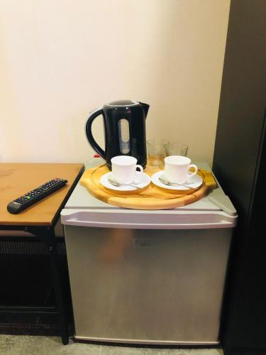 Coffee and tea-making facilities at Leonardo Guest House