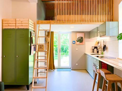 Ett kök eller pentry på Ferienwohnungen im Alten Backhaus