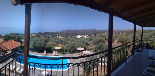 A view of the pool at Manolia Studios or nearby