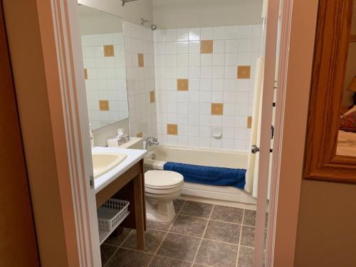 A bathroom at 6375 Whiskey Jack Road
