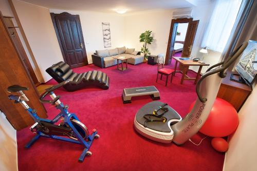The fitness center and/or fitness facilities at Brioni Suites